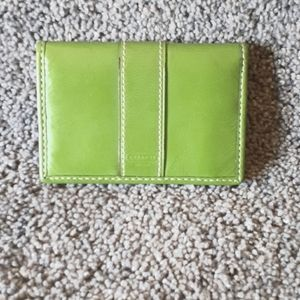 Leather Coach Card Holder - Authentic